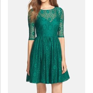 Plenty by Tracy Reese Estella Emerald Lace 8 NWT